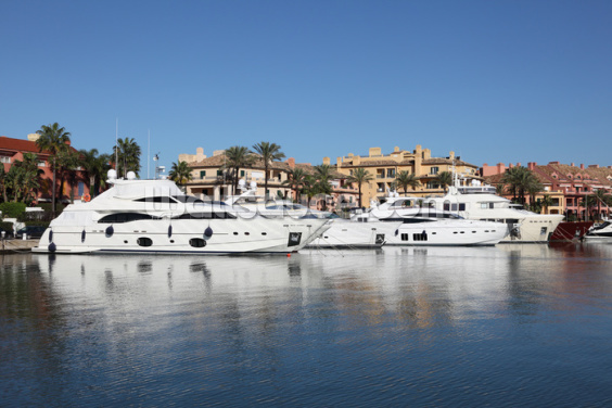 Sotogrande Marina Luxury Yachts Wallpaper Wall Murals