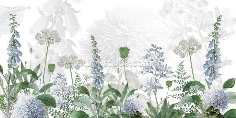 Foxglove Blue Wallpaper Wall Murals