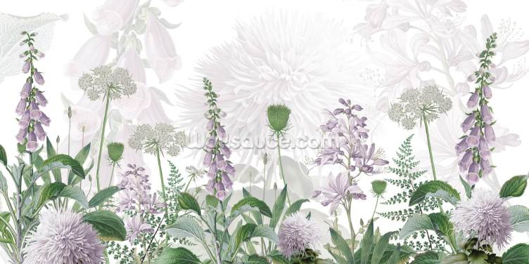 Foxglove Purple Wallpaper Wall Murals