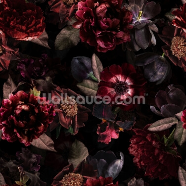 Dark Bouquet Wallpaper Wall Murals
