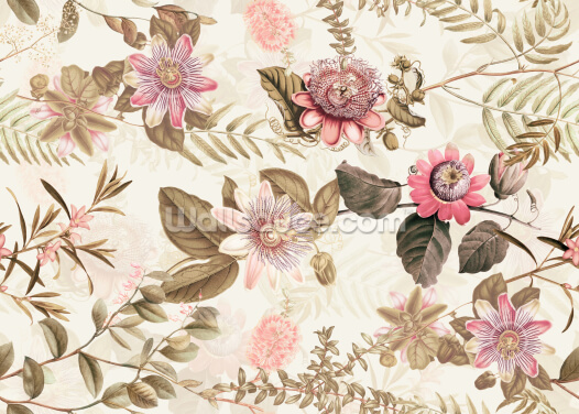 Neutral Garden Wallpaper Wall Murals