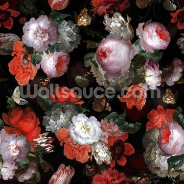 Red Bouquet Wallpaper Wall Murals