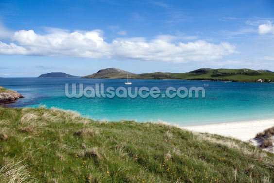 Summer at Hebrides, white beach and colorful sea Wallpaper Wall Murals
