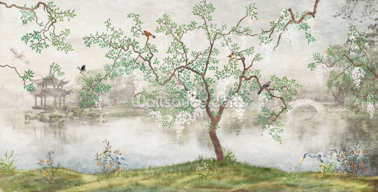 Chinoiserie Garden Wallpaper Wall Murals