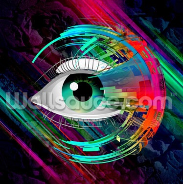 Bright Eye Wallpaper Wall Murals