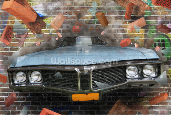 Graffiti - Car Smash Wallpaper Wall Murals