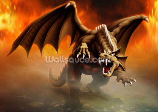 Dragon Attack Wallpaper Wall Murals