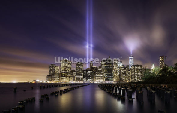 New York - Tribute Lights 9-11 Wallpaper Wall Murals
