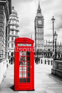 London Telephone Box Wallpaper Wall Murals