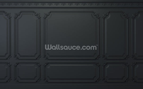 Almost Black Panel Wallpaper Wall Murals