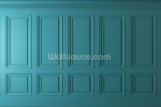 Teal Wood Panels Wallpaper Wall Murals