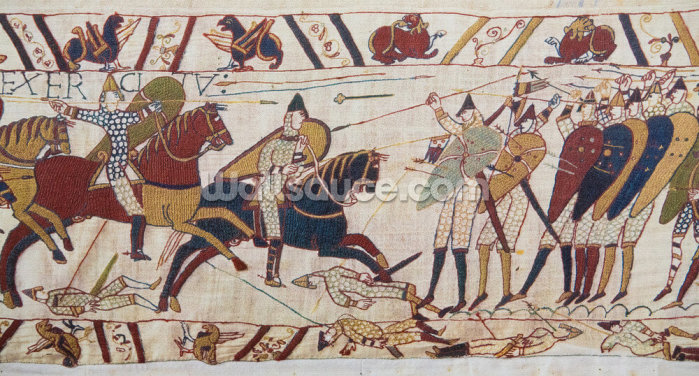 Bayeux Tapestry Norman Invasion Wallpaper Wall Murals