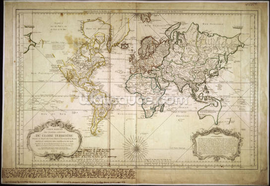 Historic World Map Wallpaper Wall Murals