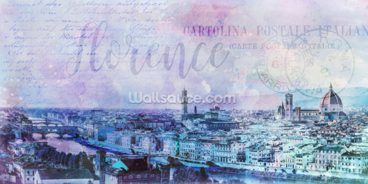 Lilac Tinted Firenze Wallpaper Wall Murals