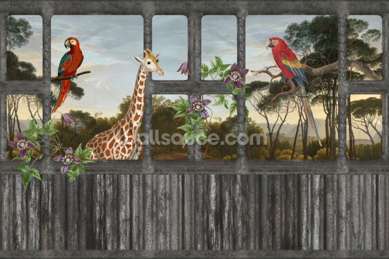 Giraffe and the Lost Jungle Place Wallpaper Wall Murals