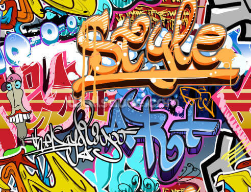 Graffiti Style Wallpaper Wall Murals