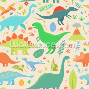 Cute Dinosaur Wallpaper Wall Murals