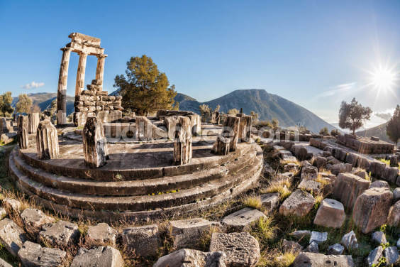The Temple of Athena, Delphi, Greece Wallpaper Wall Murals