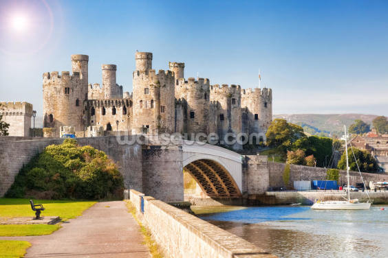 Conwy Castle in Wales Wallpaper Wall Murals