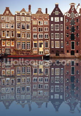 Amsterdam Houses Reflection Wallpaper Wall Murals