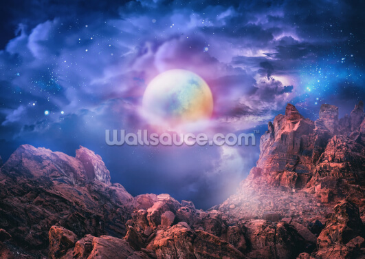 Dreamy Moon Wallpaper Wall Murals