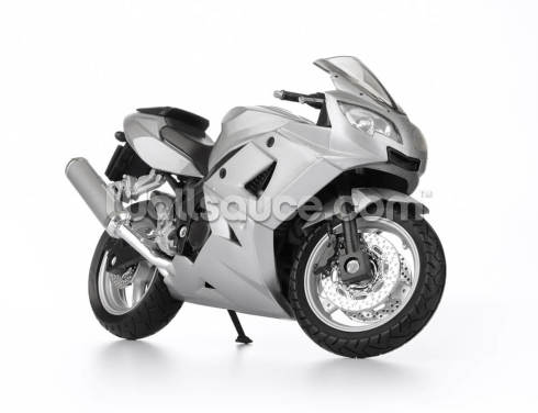 Motorbike in White Wallpaper Wall Murals