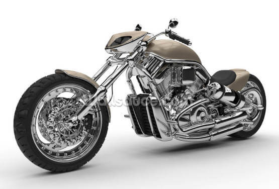 Chrome Chopper Wallpaper Wall Murals