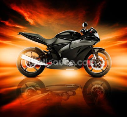 Motorcycle Skyline Horizon Wallpaper Wall Murals