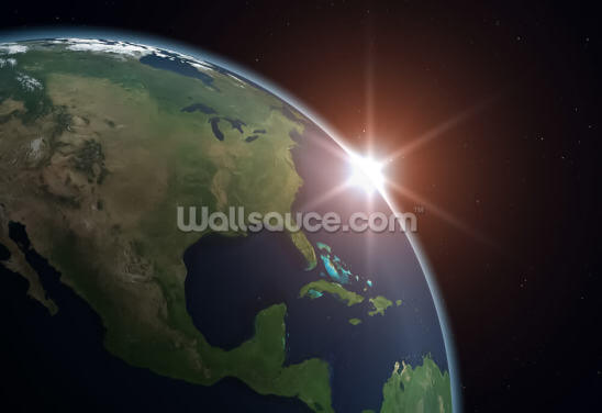 North America from Space Wallpaper Wall Murals