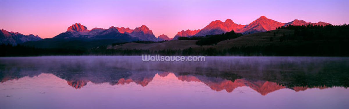 Sawtooth Mountain Range Wallpaper Wall Murals