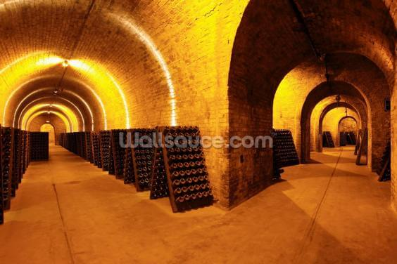 Wine Cellar Tunnels Wallpaper Wall Murals