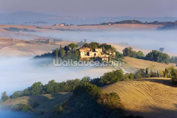 Misty Tuscany Morning Wallpaper Wall Murals
