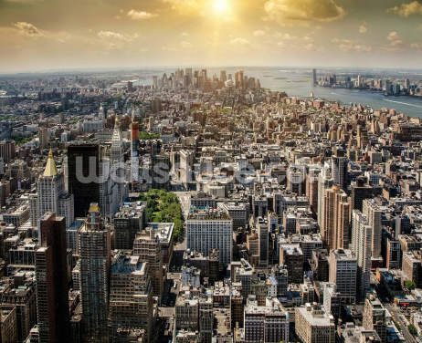 New York from Above Wallpaper Wall Murals
