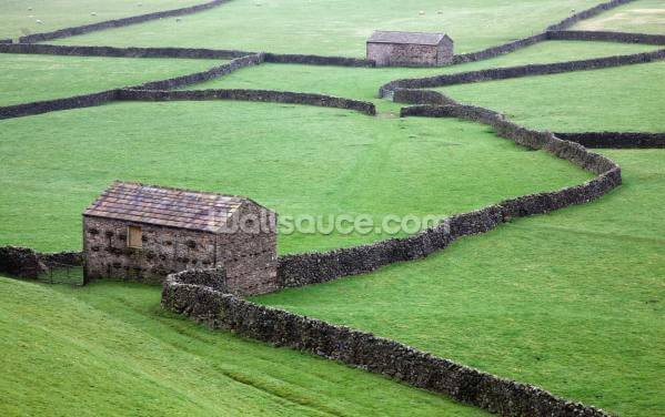Stone Houses and Stone Walls Wallpaper Wall Murals
