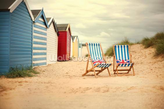Deck Chairs Wallpaper Wall Murals