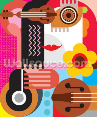 Abstract Portrait Wallpaper Wall Murals