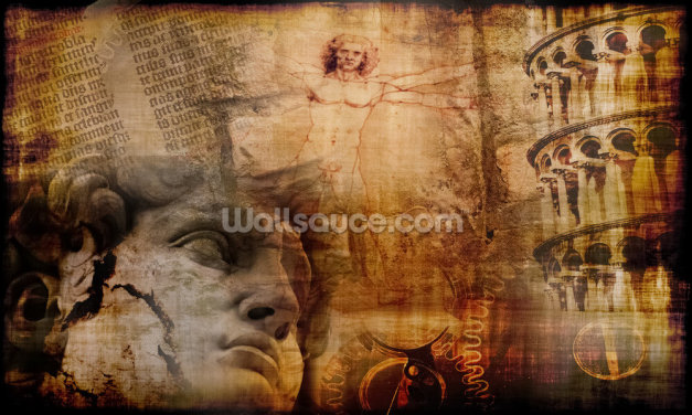 Vitruvian Man, Italian Icons Wallpaper Wall Murals