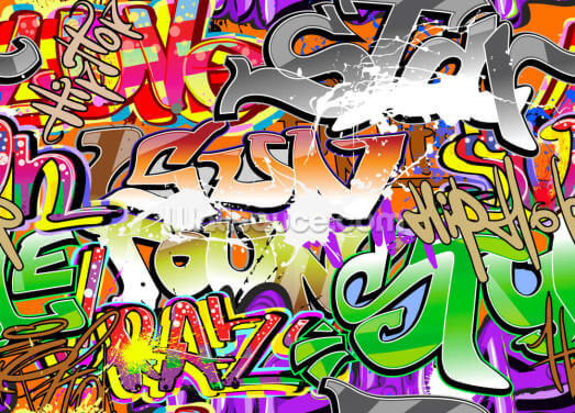 Urban Graffiti Art Wallpaper Wall Murals