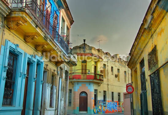 Colorful Havana Buildings Wallpaper Wall Murals