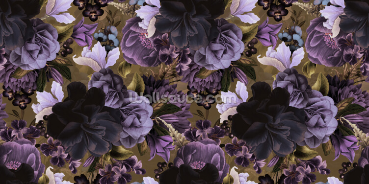 Lovely Lilac and Green Wallpaper Wall Murals
