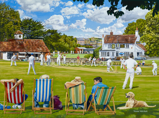 Cricket on the Green Wallpaper Wall Murals
