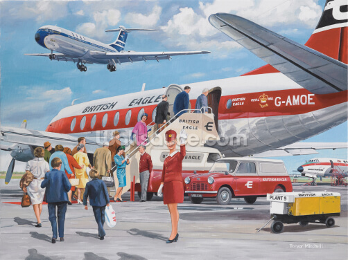 The Air Hostess Wallpaper Wall Murals