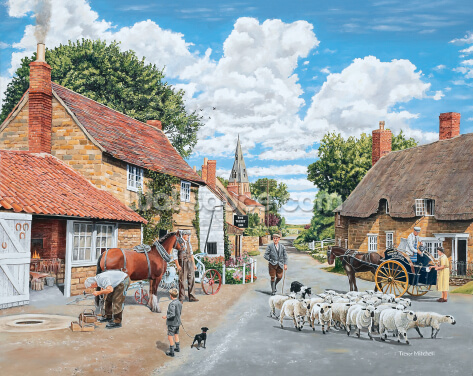 The Village Farrier Wallpaper Wall Murals
