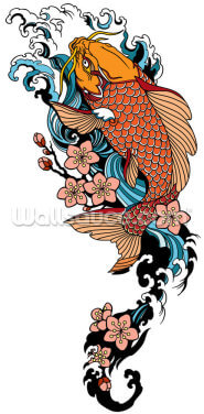 Koi Carp Tattoo Wallpaper Wall Murals
