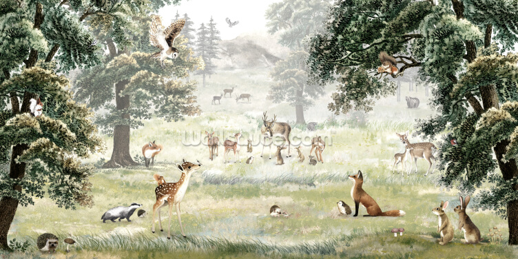 Forest Fun Wallpaper Wall Murals