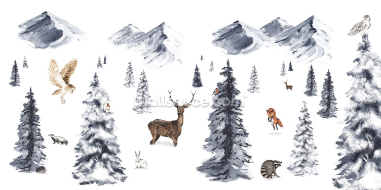 Animal Winter Wonderland Wallpaper Wall Murals