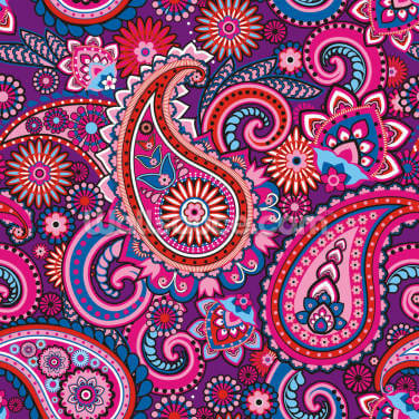 Psychedelic Paisley Wallpaper Wall Murals