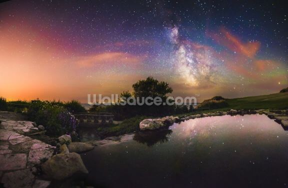 Milky Way Reflection Wallpaper Wall Murals