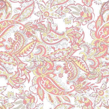 Pale Red and Yellow Patterns Wallpaper Wall Murals