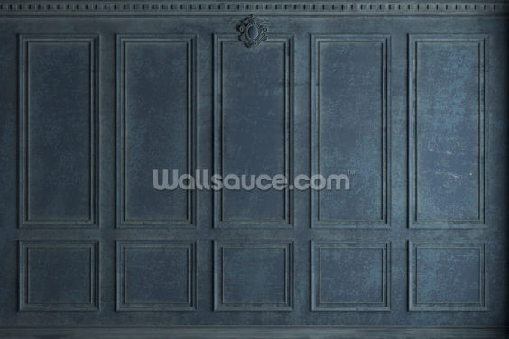 Antique Blue Wood Panels Wallpaper Wall Murals